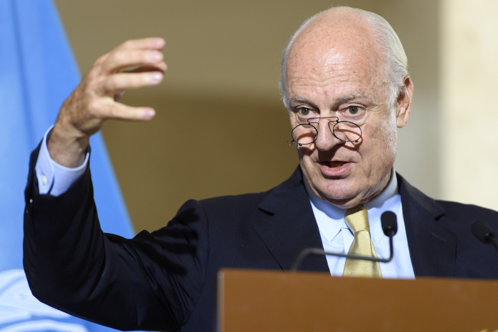 Staffan de Mistura, United Nations special envoy for Syria, said Thursday that there is