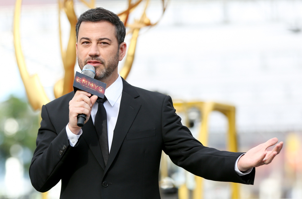 Jimmy Kimmel hosts the 2016 Emmy Awards, which air at 8 p.m. Sunday on ABC.