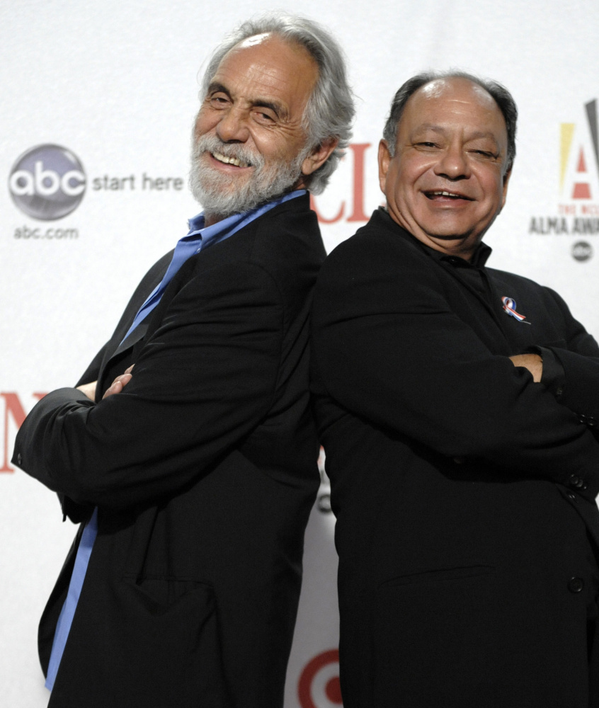 Tommy Chong, left, shown with old buddy Cheech Marin, hopes his pardon wish isn't just a pipe dream.