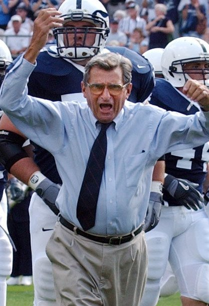 The late Joe Paterno leaves a marred legacy at Penn State because of an assistant coach's  sexual misconduct over the course of decades.