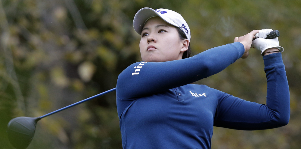 In Gee Chun shot a 6-under 65 in the third round Saturday and leads the Evian Championship by four shots over Sung Hyun Park in Evian-les-Bains, France.