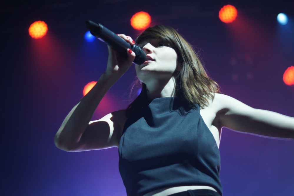 Frontwoman Lauren Mayberry: Her singing is full of personality and spotted with odd inflections, like how Alanis Morissette or Sinéad O'Connor might sound if they were on the back of a motorcycle, zipping through a neon-lit city.