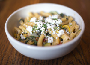 The Garganelli dish served at The Corner Room.