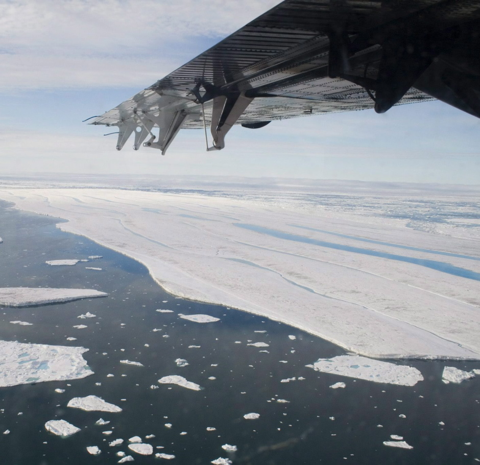 A chunk of ice drifts near the Ward Hunt Ice Shelf off Ellesmere Island in Canada. Such Arctic areas are providing new trading and other opportunities for Maine businesses.