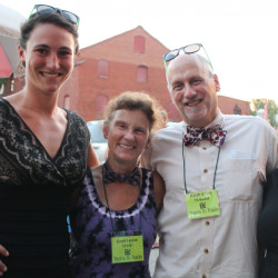 Jane Koopman, left, of Brunswick with Carol Leone, co-founder of Teens to Trails, Ralph Keyes, a board member, and Colleen McKenna of Brunswick.