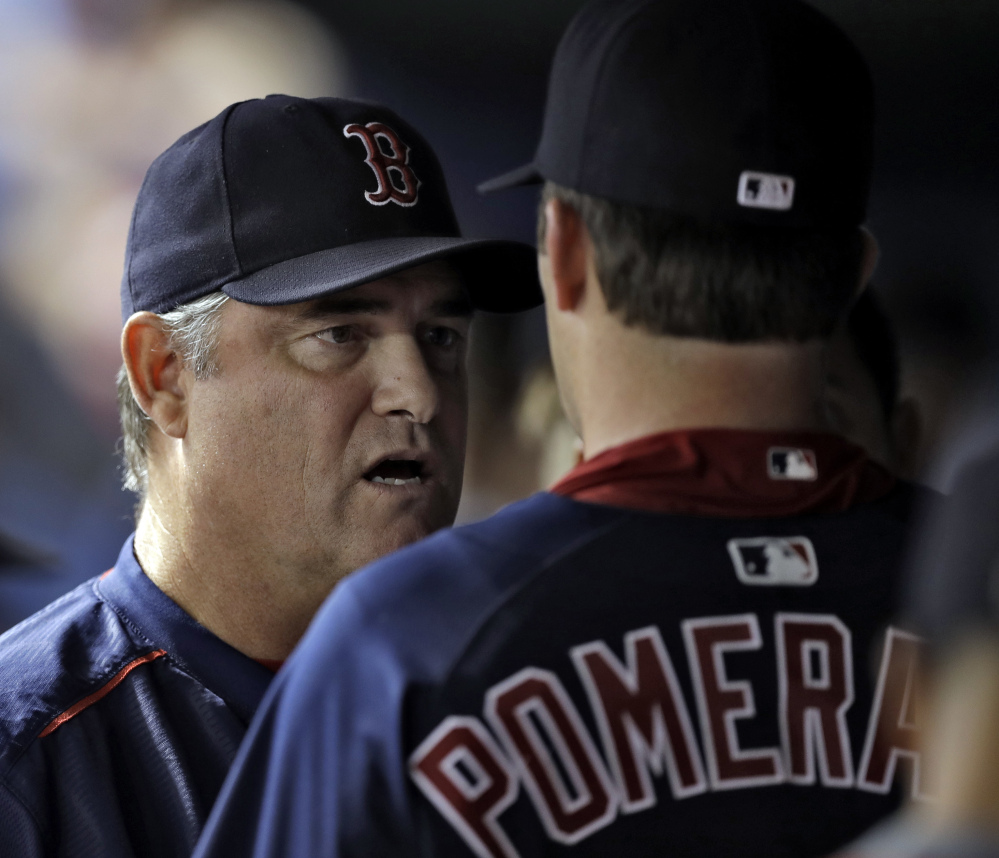 Boston Red Sox Manager John Farrell may soon be telling Drew Pomeranz that his role for the playoffs will be out of the bullpen.