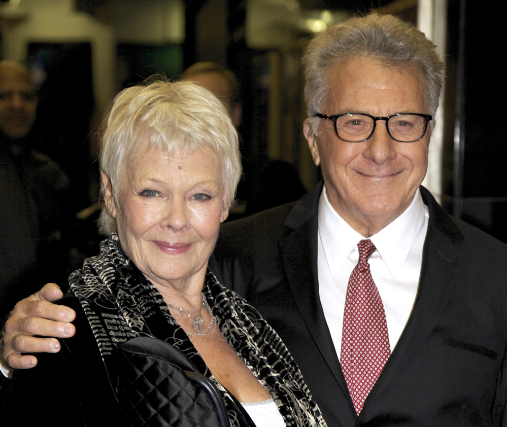 Judi Dench and Dustin Hoffman arrive at the screening of