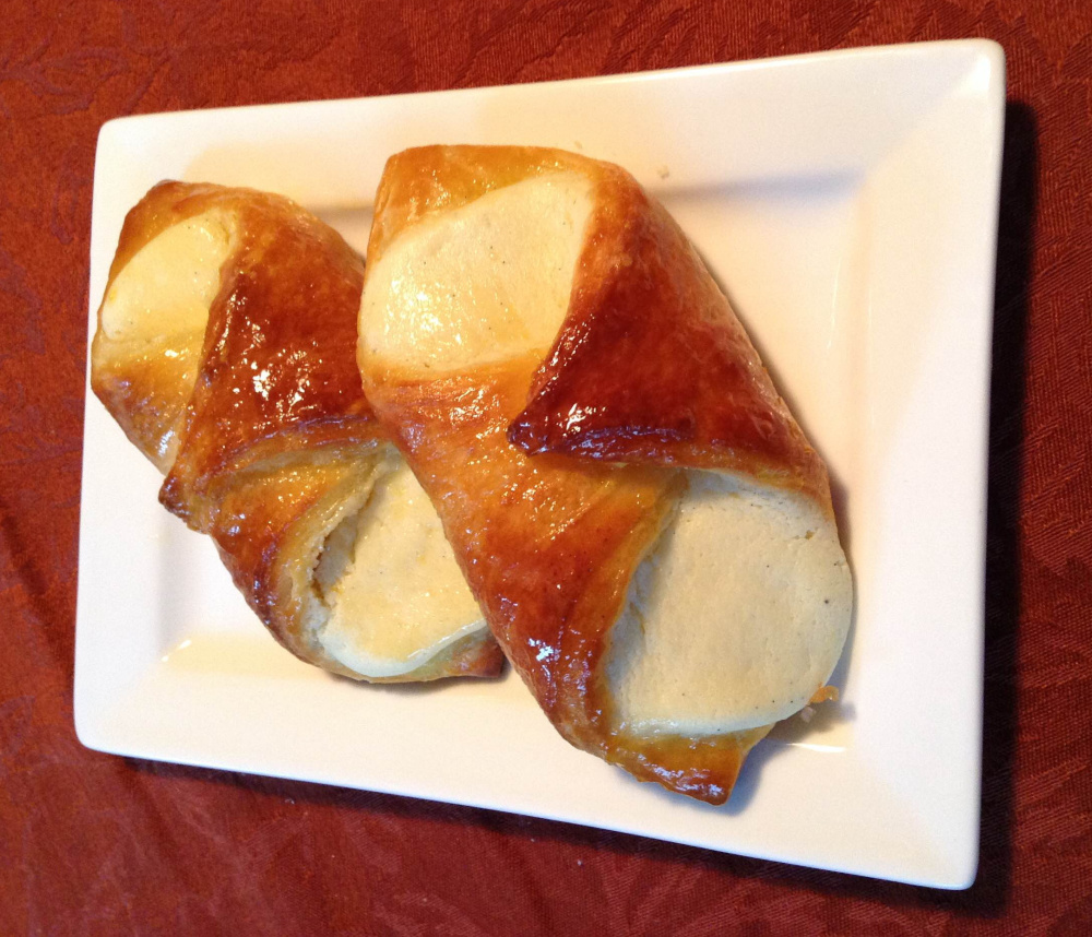 Cheese danish are simple to make, but watch out for recipe volumes that are from a commercial baker.