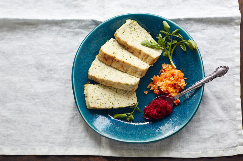 Herbed gefilte fish baked in a terrine is among the new twists on traditional foods in