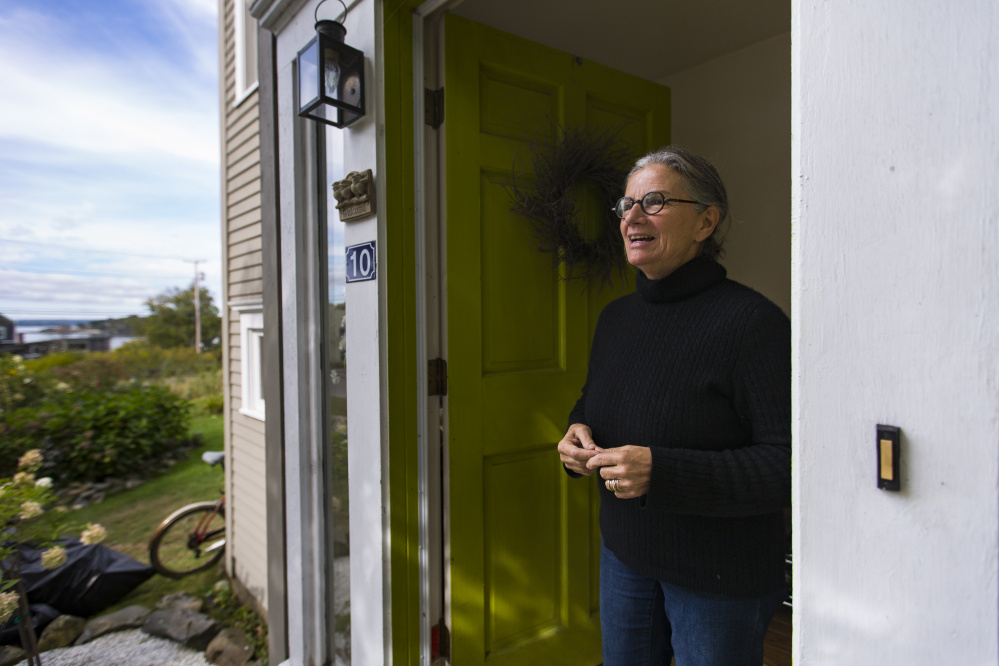 The proposed condo development is across the street from where Aaiyn Foster has lived for 19 years. She said she welcomes a discussion of the island's zoning. Ben McCanna/Staff Photographer