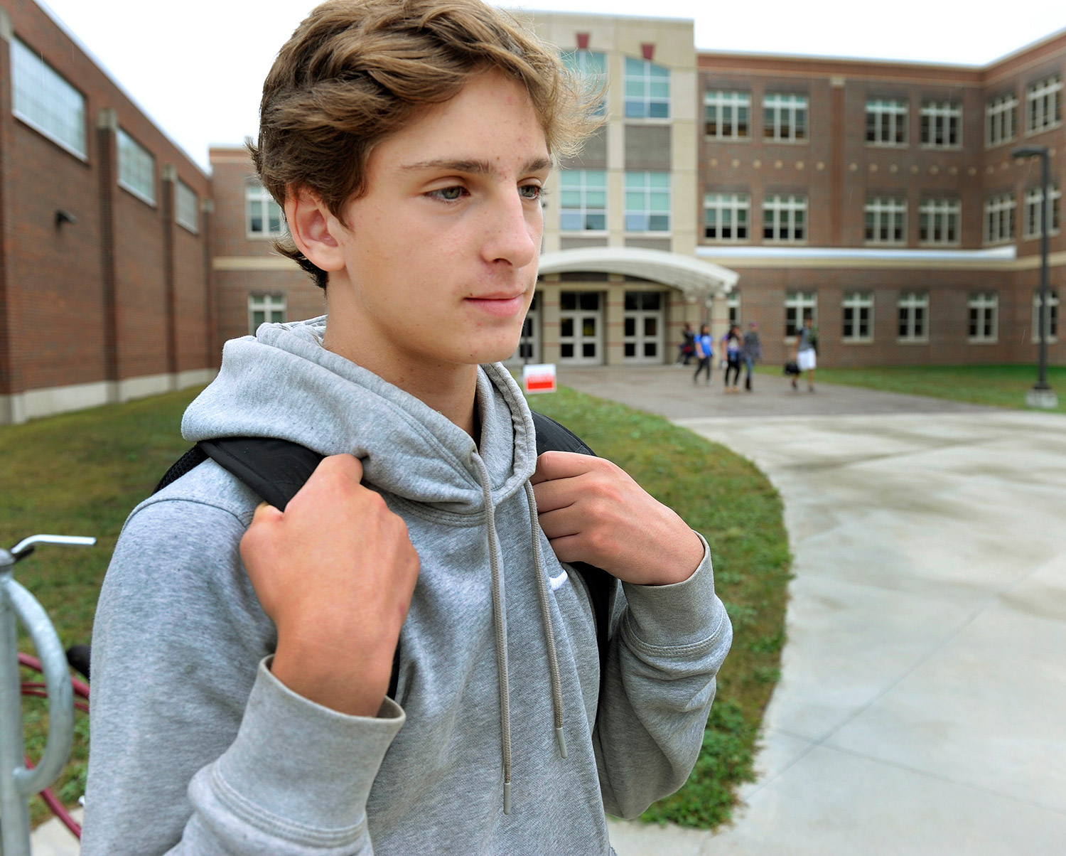 Sophomore David Fiorini is disappointed that South Portland High is canceling some dances this year. He sees it as a drastic step to address the bad behavior of a few students. John Ewing/Staff Photographer