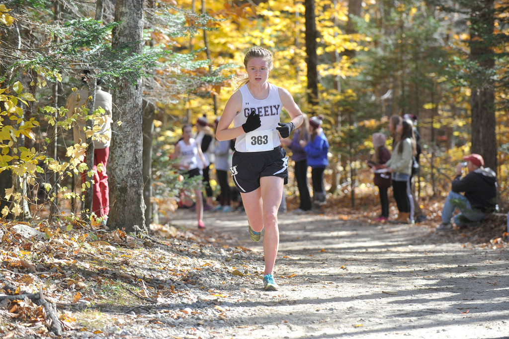 Katherine Leggat-Barr, a senior at Greely, is the two-time defending Class B champion and placed 17th in New England.