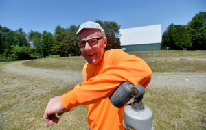 Don Brown, owner of the Skowhegan Drive-In Theatre.