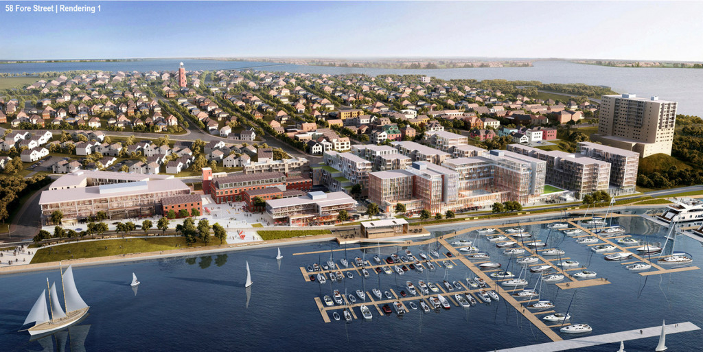A View Of The Entire Proposed Development Renderings By Perkins Will Boston