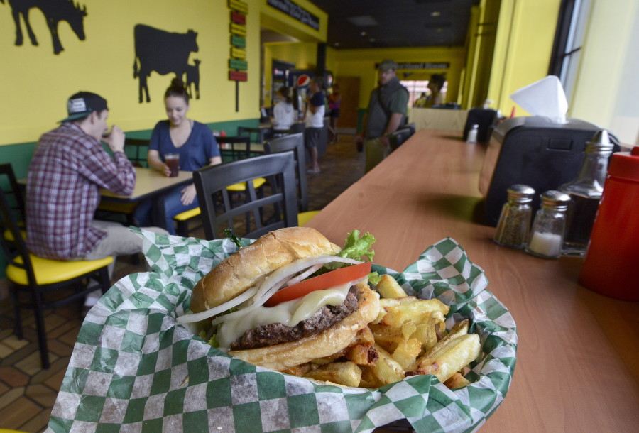The 1/4-pound burger and fries combo was part of the menu Thurston's Wicked Good Burgers in Portland. The Forest Avenue restaurant has closed. John Patriquin/Staff Photographer