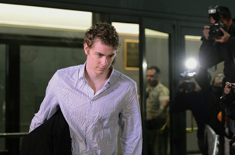 Brock Turner leaves the Santa Clara County Main Jail on Friday.
