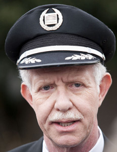 "Then-US Airways pilot Capt. Chesley ""Sully"" Sullenberger, speaking to reporters in Charlotte, N.C., announces his retirement on March 10, 2010."