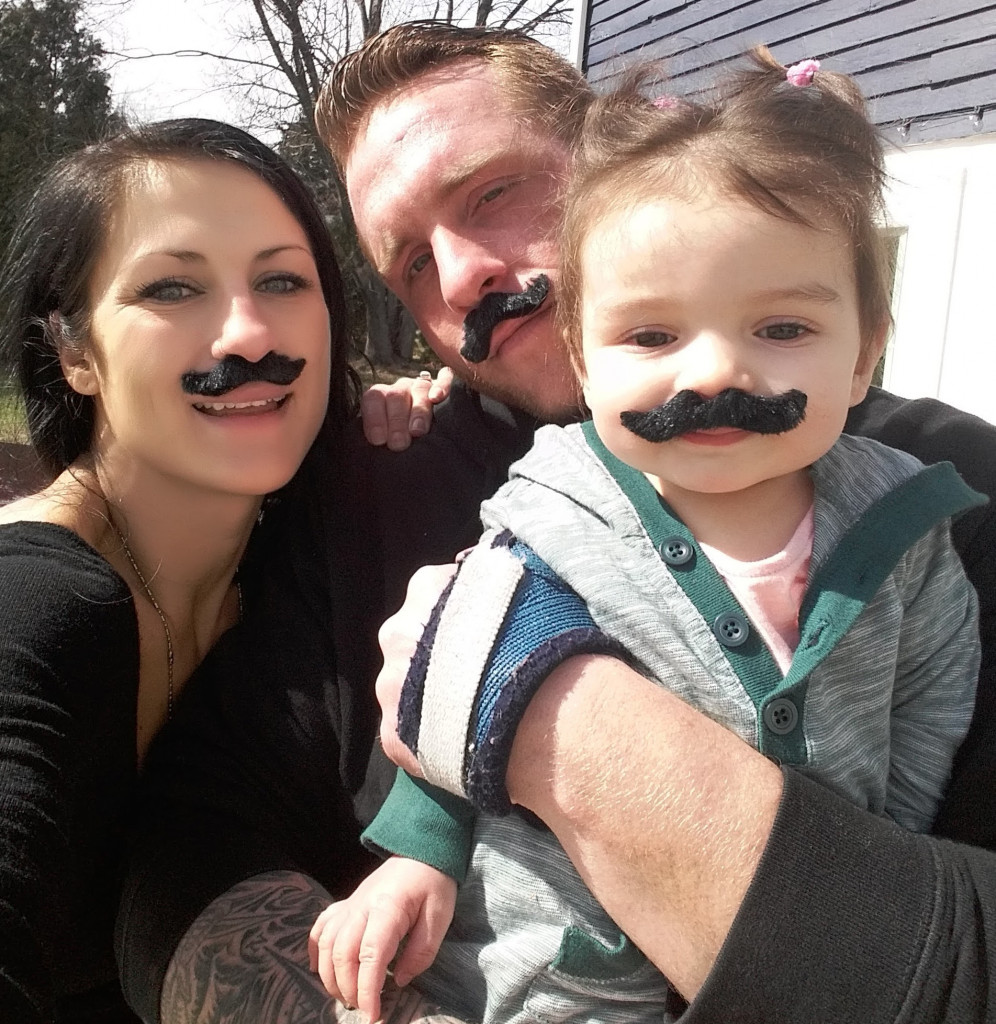 "Devon Higgins, shown with a former girlfriend, Tiffany Voisine, and her daughter, Lily. ""He was doing really well at masonry and was planning to start his own business with a friend,""  Voisine said."