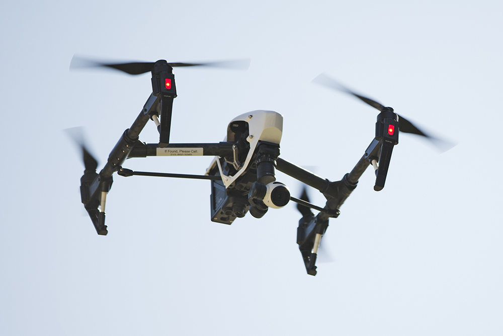 A drone is used to capture videos and still images of an apartment building in Philadelphia recently. NASA is working with the drone industry and the FAA to create a new low-altitude air traffic control system specifically for drones. Matt Rourke/Associated Press