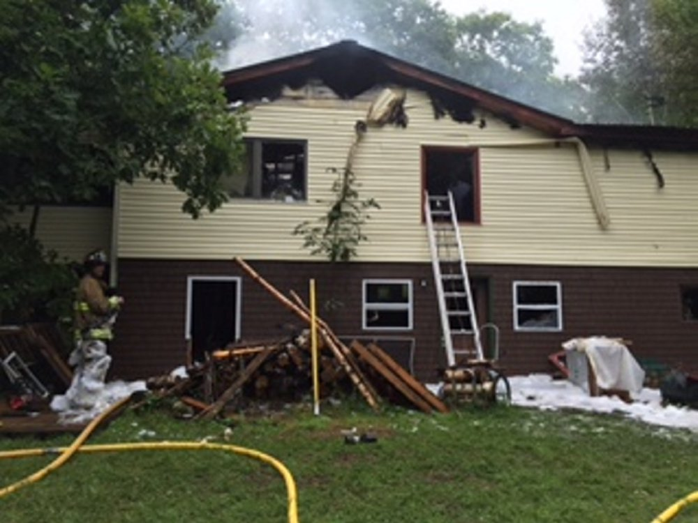 A home at 402 Belgrade Road in Mount Vernon sustained significant damage in an early morning fire on Wednesday.