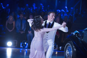"In this photo provided by ABC, Cheryl Burke and Ryan Lochte, perform on ""Dancing with the Stars,"" during its season premiere Monday, Eric McCandless/ABC via AP"