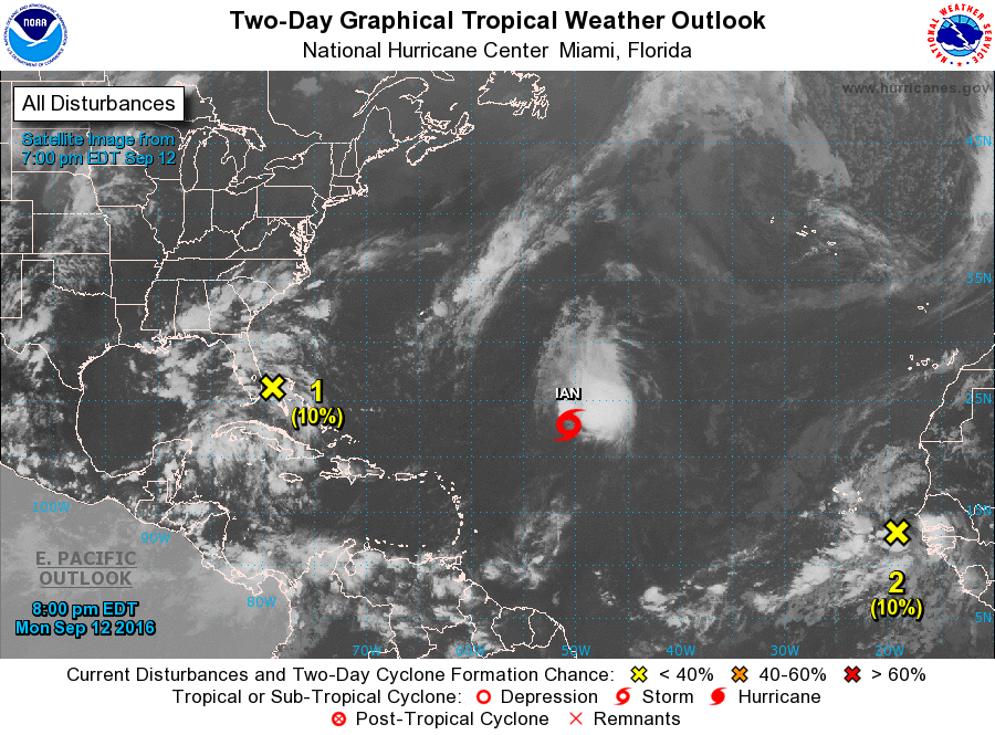 As of late Monday evening the Atlantic did have some activity.