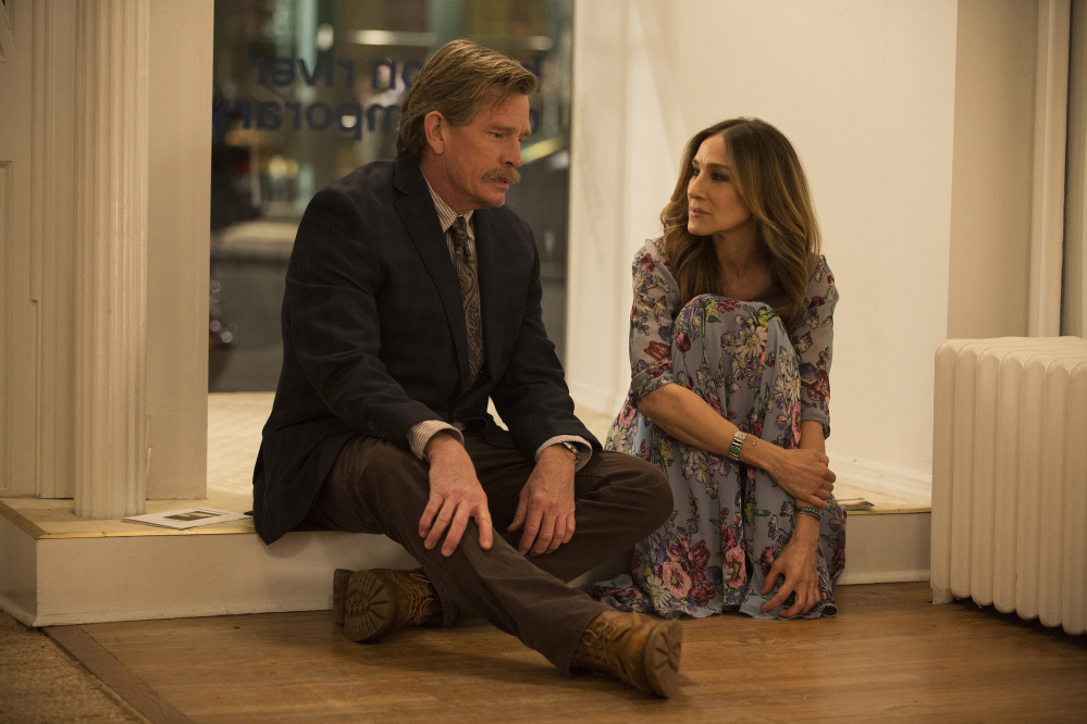 Thomas Haden Church and Sarah Jessica Parker as a couple having marriage problems in the new HBO series