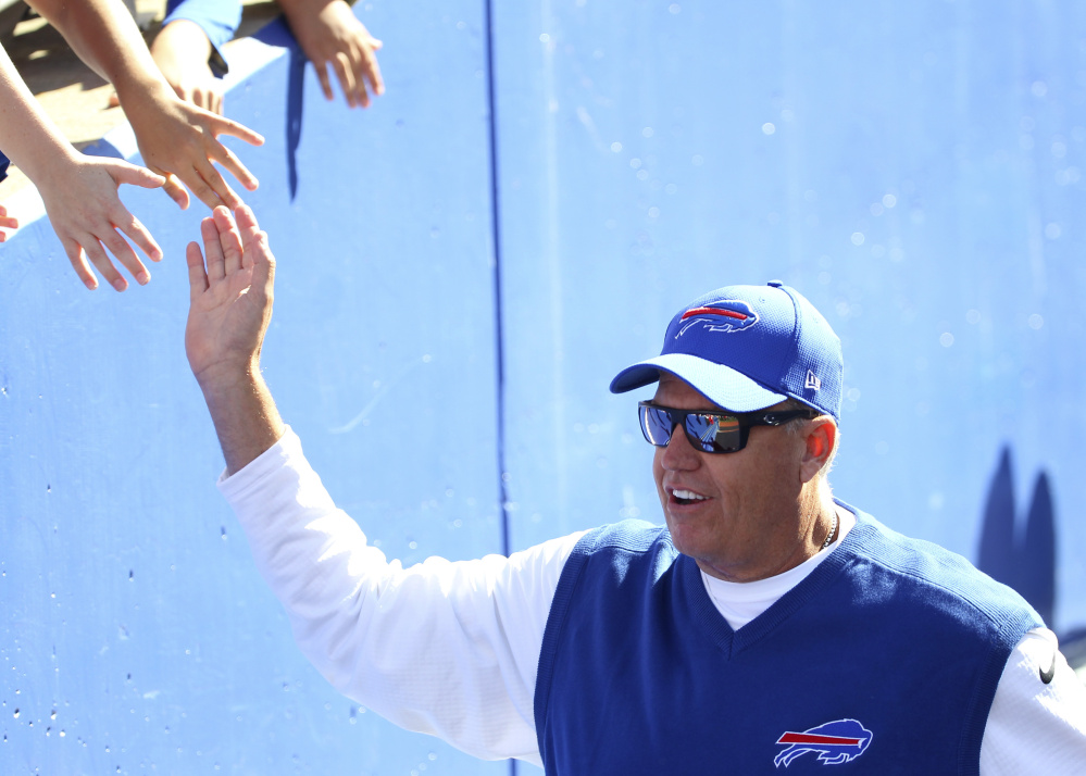 Bills Coach Rex Ryan has a 4-11 career record against New England, dating back to his time with the New York Jets, but he can at least take comfort in knowing that Tom Brady won't be on the field for the Patriots this time.