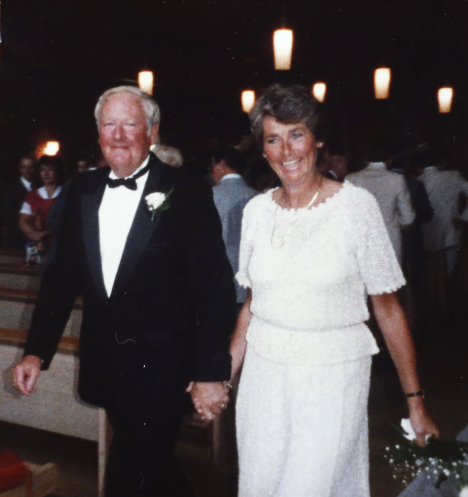 John and Josephine Marr are shown at a wedding. She has Alzheimer's and still lives at home with her husband of 60 years, but she can no longer speak and needs sustained care.