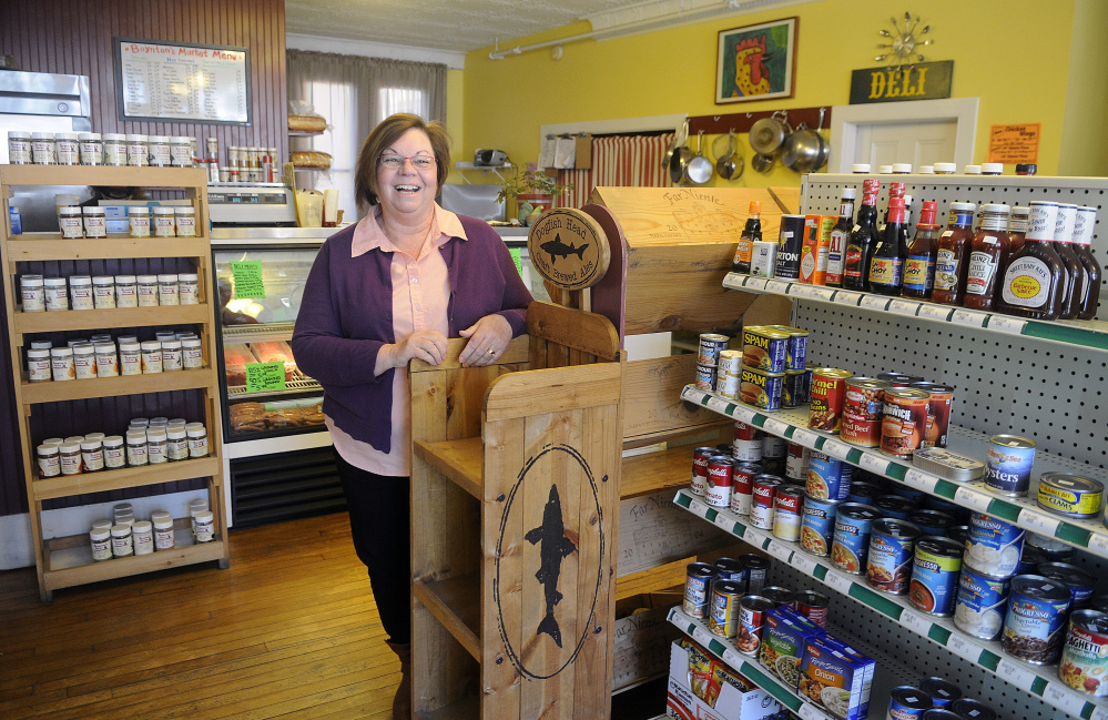 Ruth LaChance runs Boynton's Market in Hallowell and says she's concerned about the potential effect of retail development outside of downtown.