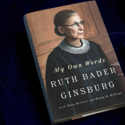 """My Own Words,"" by Supreme Court Justice Ruth Bader Ginsburg, will be available Tuesday."