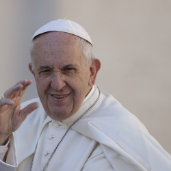 Pope Francis arrives for his weekly general audience, in St. Peter's Square, at the Vatican,  Wednesday, Oct. 5, 2016. (AP Photo/Andrew Medichini)