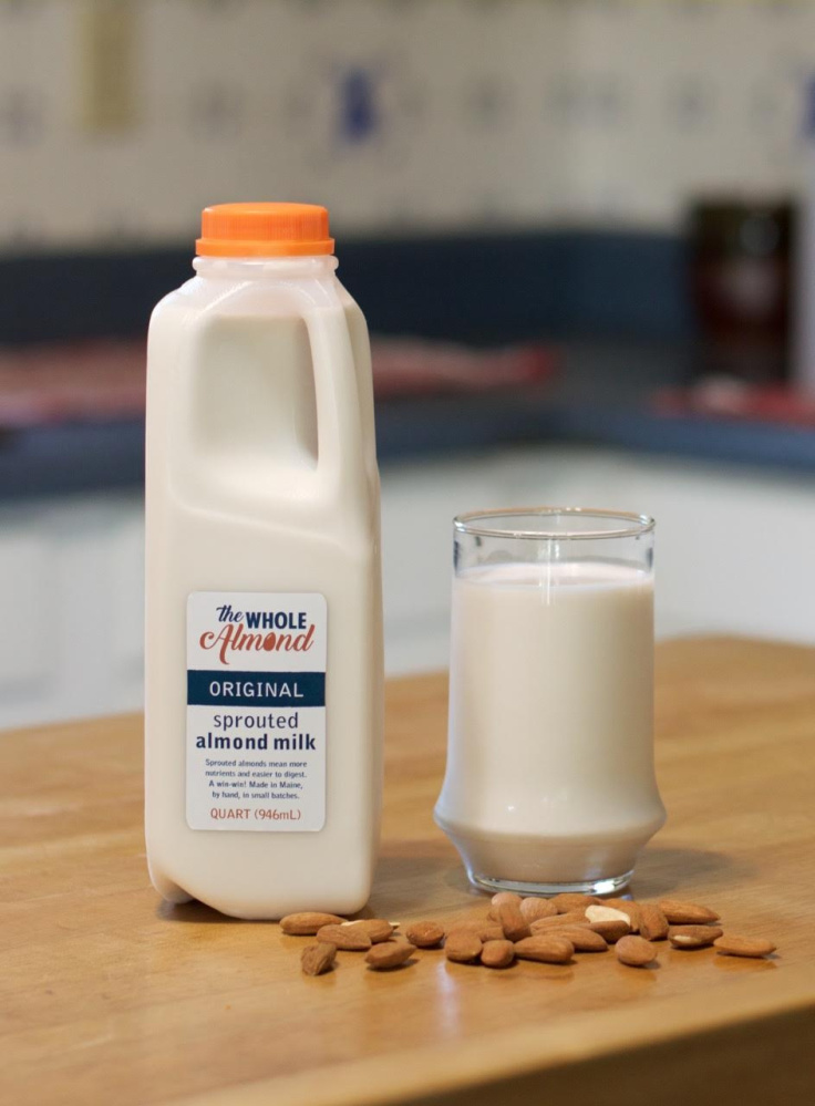 The Whole Almond is the newest plant-based milk on the Maine market and is currently available only at the Fork Food Lab during limited hours.