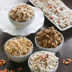 Plain popcorn can be quickly dressed up in a variety of ways, both sweet and savory.