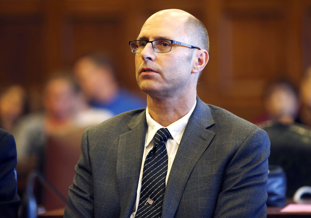 Gregory Nisbet hears a not-guilty verdict from the judge Friday on six counts of manslaughter related to a deadly Noyes Street fire on Nov. 1, 2014. Nisbet was found guilty of a lesser charge.