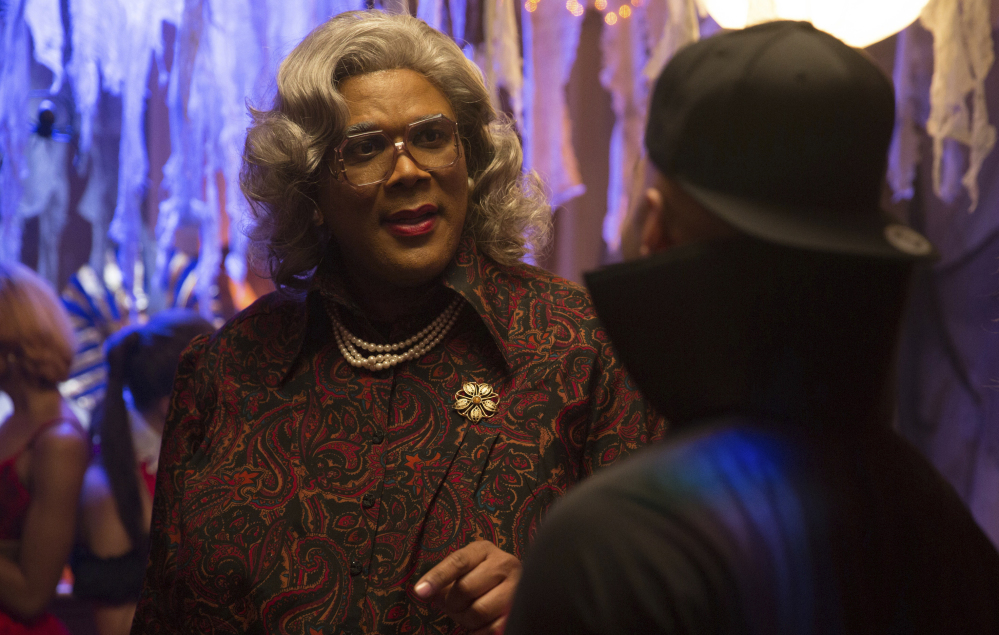 Tyler Perry portrays Madea in a scene from