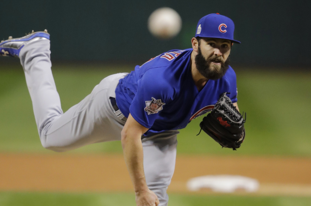 Jake Arrieta was the winning pitcher for the Cubs in Game 2 of the World Series, and now he's being asked to help his team avoid elimination as Chicago tries to continue its comeback from a 3-1 series deficit.