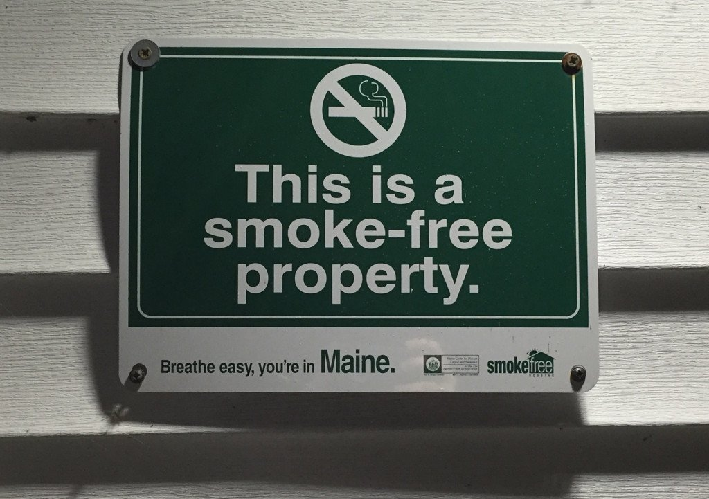"""South Portland Mayor Tom Blake says many landlords and business owners who have declared """"smoke-free campuses"""" have forced smokers to go to city sidewalks to smoke."""