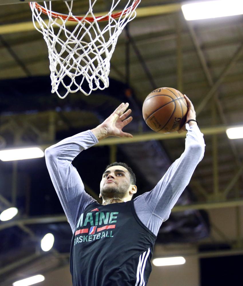 Abdel Nader, who was drafted by the Boston Celtics out of Iowa State last June, is expected to be one of the players receiving significant playing time in Maine this season.