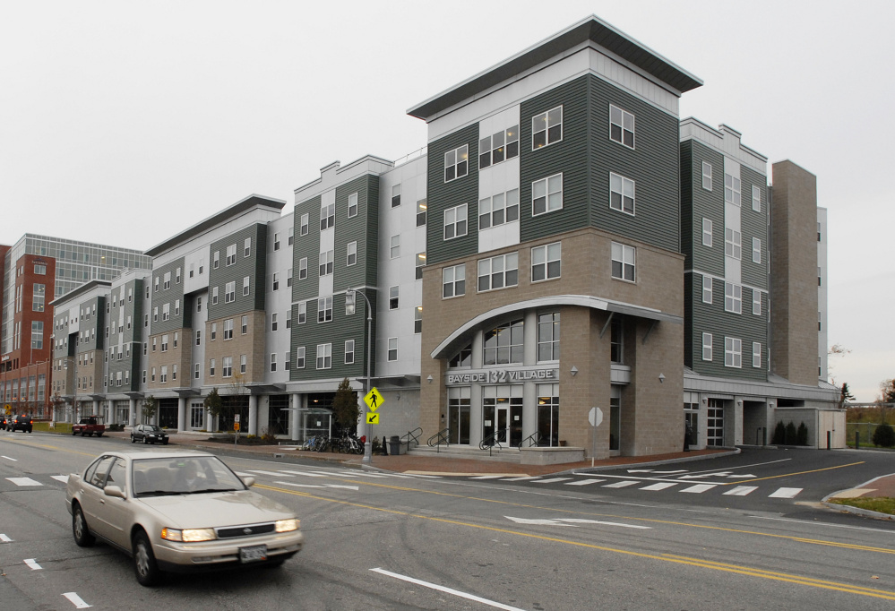 The $22 million Bayside Village complex is owned by Realty Resources and has about 300 tenants. It's the first housing in Portland designed for students but run by a business.
