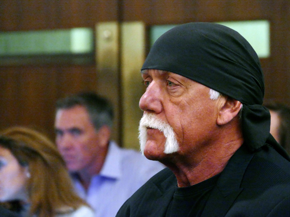 Hulk Hogan, whose real name is Terry Bollea, appears in court in St. Petersburg, Fla.