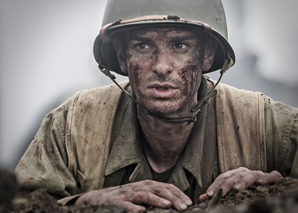 Andrew Garfield as the World War II pacifist soldier Desmond Doss in