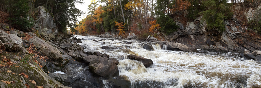 The Presumpscot River Preserve in Portland features 2.5 miles of trails and gives hikers a chance to see Presumpscot Falls up close.