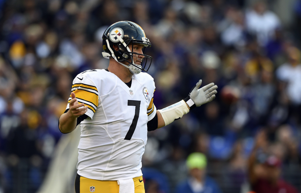 Pittsburgh Steelers quarterback Ben Roethlisberger laments a missed chance to convert for a first down in the second half of Sunday's loss against the Baltimore Ravens. Coming off a knee injury, he completed just nine of his first 29 passes in the game.