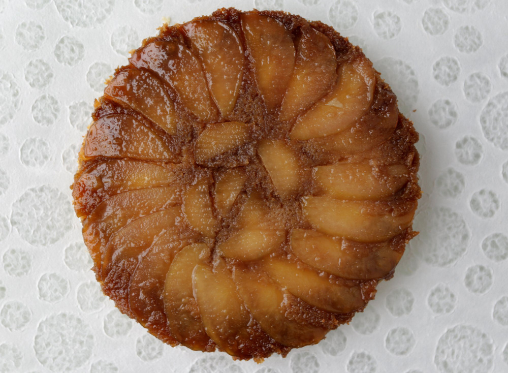 Pear upside-down cake.