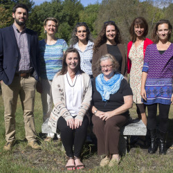 Faculty and staff who have taken the Zero-Waste Challenge include, back row, from left: Ian Magill, enrollment services student success coordinator; Chelsea Ray, associate professor of French; Lisa Botshon, professor of English; Kati Corlew, assistant professor of psychology; Ellen Taylor, professor of English; and Elizabeth Powers, assistant professor of English and the writer of this column. Front row, from left: Rachael Magill, dual enrollment program coordinator, and Sharon McMahon Sawyer, assistant professor of justice studies.