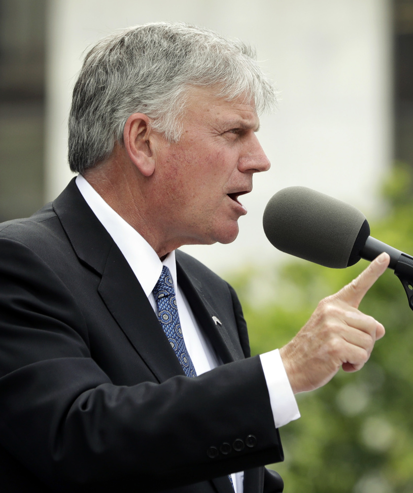 The Rev. Franklin Graham believes his prayers were answered Tuesday night.