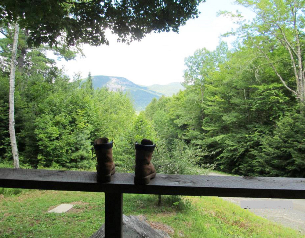 Kick off your boots and enjoy the view! That's just what Dianne Corbin of Newfield did, capturing this look at Barren Mountain from a remote camp in Elliotsville Plantation following a long day of hiking.