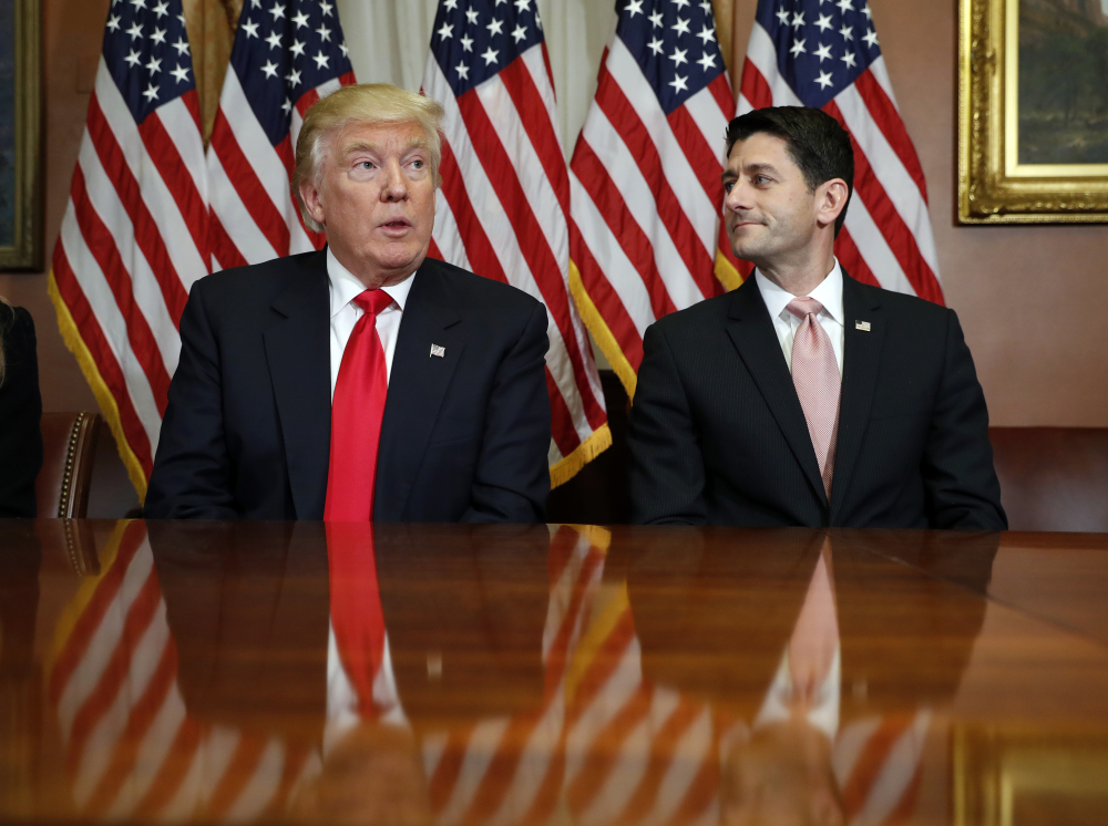 House Speaker Paul Ryan, who posed for photographers with Donald Trump after their meeting last week, is ready to overhaul the federal tax code, health care and regulations.