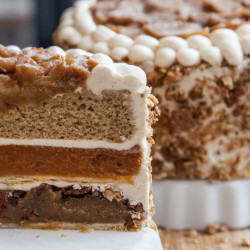 The piecaken is Zac Young's gluttonous nod to Thanksgiving gluttony. Sweet, sweet gluttony.